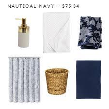Nautical Bath Mat 8 Bathroom Accessory Combos To Rescue Your Drab Bathroom Emily