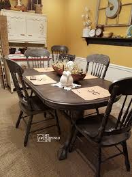 Painted Oak Dining Table And Chairs with Repurposed Table Ideas My Repurposed Life