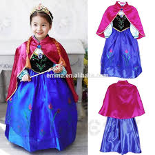 new girls gambar frozen elsa dress fabric costume wholesale