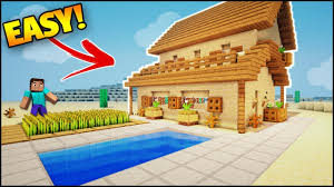 build a house minecraft desert survival starter house tutorial how to build a