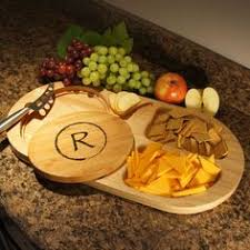 personalized serving platter ceramic personalized ceramic serving platter with nested bamboo cutting