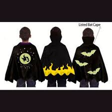 Girls Vampire Halloween Costume Spooky Stuff Kids Black Bat Witch Vampire Halloween Costume Cape