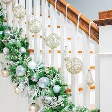 Banister Decorations Diy Christmas Garland Ideas