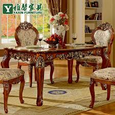 antique dining room table chairs xin ya european antique wood dining table and chairs combination of