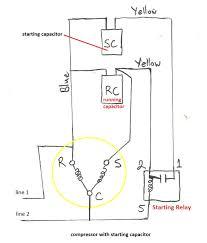 capacitor start motor wiring diagram hard stunning single phase