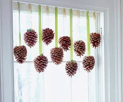 all the trimmings decorate for the holidays with pinecones