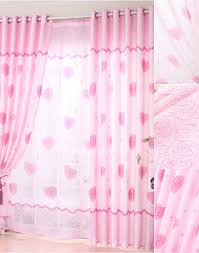 Pink Curtains For Girls Room Bedroom Heart Shaped Eco Friendly Dusty Pink Curtains