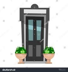 beautiful front door design wooden doors stock vector 545630875