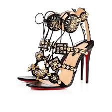 christian louboutin lady peep sling spikes 150mm patent leather