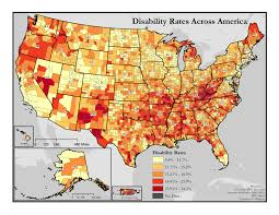 Map Of Montana Counties by Maps Of Disability Rates By County Disability In America Map