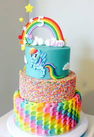 my pony birthday cake ideas rainbow cake back of my pony rainbow dash cake by the