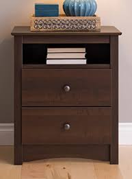 Nightstand With Shelf Prepac Edc 2428 Fremont 2 Drawer Nightstand With Open