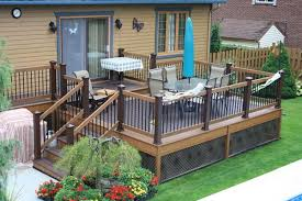 Patio Deck Ideas Backyard two toned deck staining found on patiodesigndepot com deck