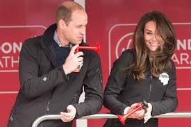 prince harry kate middleton prince william at london marathon
