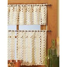 Window Valance Kits Village Yarn Vienna Lace Valance U0026 Curtains Crochet Yarn Kit