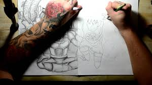drawing ideas dragon ball z goku gohan krillin and shemron