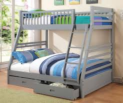 Full Size Bed With Storage Drawers Coaster Furniture 460182 Twin Over Full Grey Bunk Bed Full Size