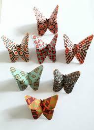 guirlande lumineuse papier japonais 7 papillons en origami papier japonais vintage papillon en