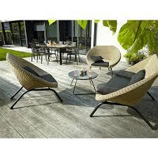salon de jardin mobilier de jardin rotin table chaise jardin resine tressee