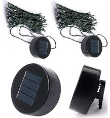 solar clip on string lights set of 2 transitional outdoor