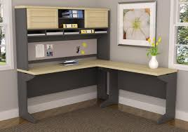 Modern L Shape Desk by Furniture Nice L Shaped Desk With Hutch And Small Potted Plants