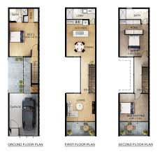 townhouse plans with garage what is a tuck under garage terrace clic house floor plan floors