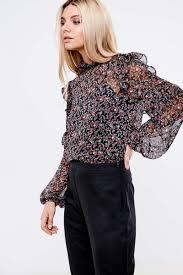high neck ruffle blouse fashion union high neck ruffle blouse black sleeve tops