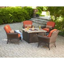 Patio Furniture With Fire Pit Set - hampton bay rosemarket 5 piece patio fire pit set xsc 1786 the