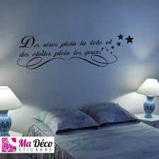 stickers phrase chambre stickers citation rêves étoiles pas cher accueil discount