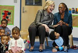 hillary clinton s childhood hillary clinton and nyc s first lady announce childhood dev pt