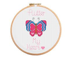 butterfly cross stitch pattern flutter my stitchmegifts