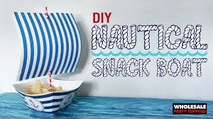 nautical party supplies diy nautical snack boat party ideas activities by wholesale