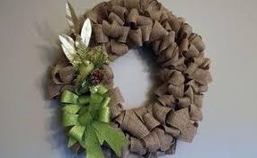 easiest burlap wreath tutorial hometalk