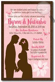 pink and brown butterfly baby shower invitations di 4512