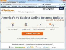 Live Career Resume Builder Build A High Quality Free Resume With Livecareer Com U0027s Free Resume