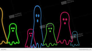 halloween stock background halloween animated background with cute little neon ghost stock