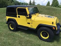 car brand auctioned jeep wrangler tj jeep wrangler tj yellow