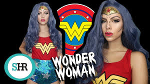 glitter wonder woman halloween costume tutorial youtube