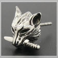 cool stud earrings aliexpress buy cool 316l stainless steel wolf stud earrings