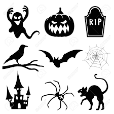 Halloween Silhouette Halloween Silhouette Set Royalty Free Cliparts Vectors And Stock