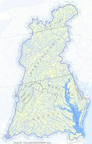 Map Of Virginia Cities Rivers And Watersheds Of Virginia