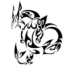 tribal rayquaza by spoider on deviantart