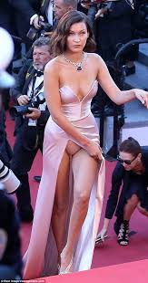 bella hadid suffers another wardrobe malfunction in cannes daily