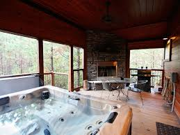 luxury cabin tub indoor u0026 outdoor homeaway broken bow