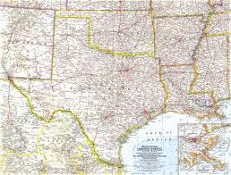 South States Map by South Central United States Map 1961 Maps Com