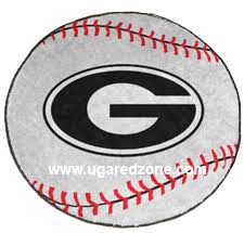 uga baseball oval g rug logo mat