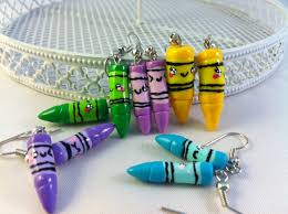 school earrings back to school polymer clay crayons earrings rilakkumashop
