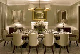elegant formal dining room rectangular cream fabric motif stacking
