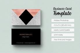 Mini Resume Business Card Rose Gold Foil Marble Business Card By Design Bundles