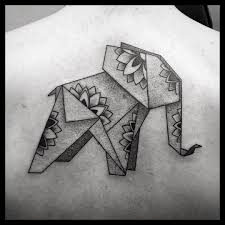 elephant tattoo with words cool origami elephant tattoo black and gray tattoos pinterest